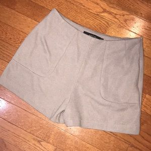 Grey Brown High Waisted Shorts